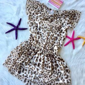 NWOT Childrens Place GIRLS Leopard Dress Size 7/8